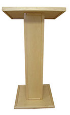 Front_View_Speaker_Stand_Lectern_Custom_Maple